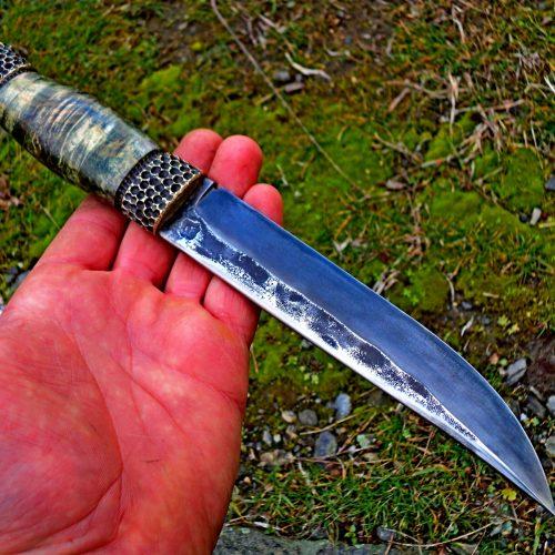 Нож 2 Стомана изкована от Х12 острие 160на17на5мм