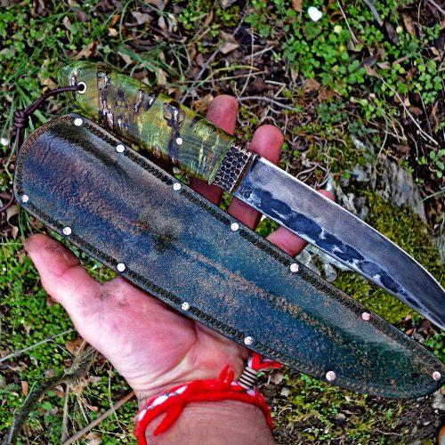 Нож 1 Стомана изкована от Х12 ,Острие 155на17на5мм